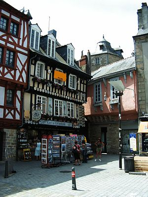 Quimper, with its vernacular architecture, is ...