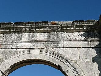 Pont Flavien - The inscription on the Pont Flavien