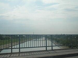 Little Bačka Canal - Image: Bridge over the Danube Tisa Danube Canal, Novi Sad, Vojvodina, Serbia