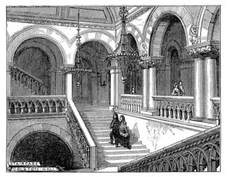 Colston Hall - Image: Bristol 1873 Colston Hall staircase