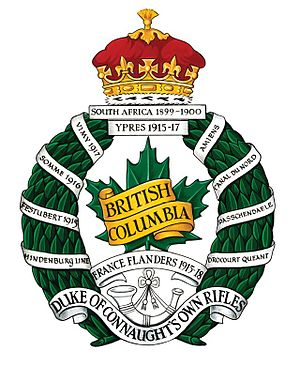 The British Columbia Regiment (Duke of Connaught's Own) - Image: British Columbia Regiment crest