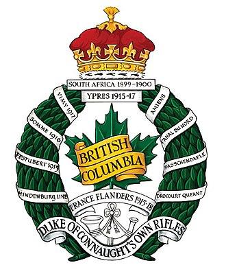 The British Columbia Regiment (Duke of Connaught's Own) - Image: British Columbia Regiment crest