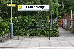 Bromborough station sign (28652869885).jpg