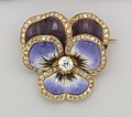 Brooch in the form of a Pansy Brooch, ca. 1900 (CH 18497621).jpg