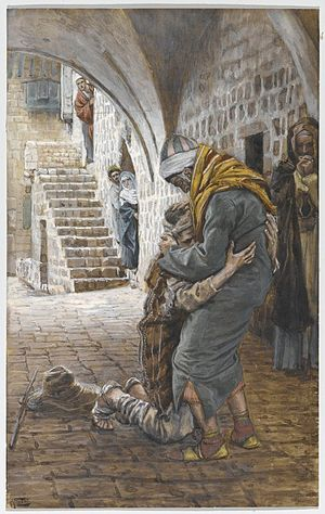 Parable of the Prodigal Son - James Tissot - The Return of the Prodigal Son (Le retour de l'enfant prodigue) - Brooklyn Museum
