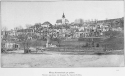 Krucemburk after fire in 1893 (photo by Rudolf Bruner-Dvořák)