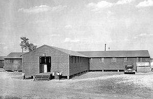 Laurinburg–Maxton Army Air Base - A common type of building found were orderly rooms and ground training classrooms such as this.