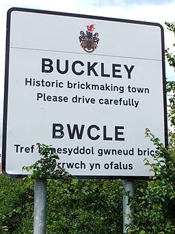 Buckley sign on the A549 - DSCF1286