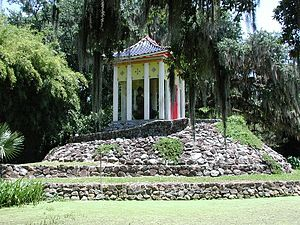 Edward Avery McIlhenny - A Buddha temple in Avery Island's Jungle Gardens, the former personal estate of Edward Avery McIlhenny.