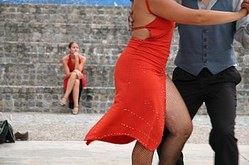 Photo of a couple dancing the Tango.