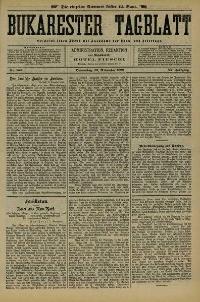 File:Bukarester Tagblatt 1899-11-23, nr. 263.pdf