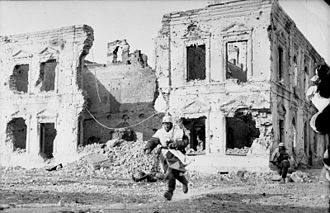 218th Infantry Division (Wehrmacht) - German soldiers in the ruins of Kholm