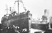 Bundesarchiv Bild 137-030555, Wilhelmshaven, Rückkehr von Kriegsgefangenen
