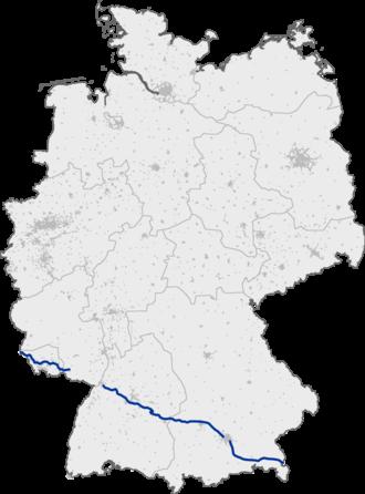 Bundesautobahn 8 - Image: Bundesautobahn 8 map