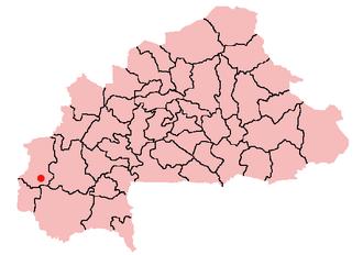 Orodara - Location of Orodara in Burkina Faso