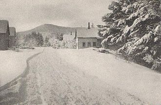 Brownfield, Maine - Burnt Meadow Mountain in winter c. 1905