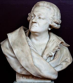 Honoré Gabriel Riqueti, comte de Mirabeau - Bust of Honoré Gabriel Riqueti de Mirabeau at Palace of Versailles
