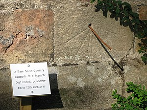 Bywell - The tide dial at St Peter's