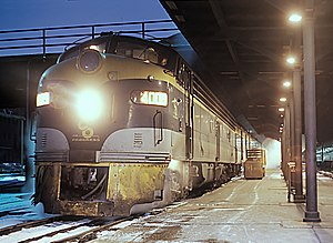 Pere Marquette Railway - Image: C&O E8A 4009 with Train 8, The Pere Marquette at Grand Central Station in Chicago, Illinois on December 26, 1967 (24514391359)
