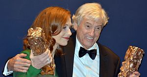 Elle (film) - Huppert and Verhoeven at the 42nd César Awards