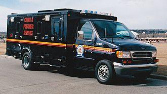 Alberta Sheriffs Branch - Large CAPS prisoner transport van