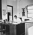 COLLECTIE TROPENMUSEUM Dr. A. Marseille achter zijn schrijftafel in het Koningin Wilhelmina Instituut voor Hygiëne en Bacteriologie Batavia TMnr 60038165.jpg