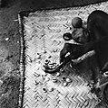 COLLECTIE TROPENMUSEUM Een ritueel specialist 'leest' de kaurischelpen tijdens een consult TMnr 20010337.jpg