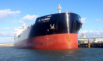 Bulk carrier - Unloaded Trillium-class dry bulker at the Port of Redwood City