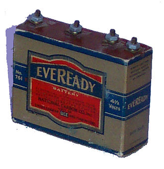 Battery (vacuum tube) - Image: C battery (Eveready 761)
