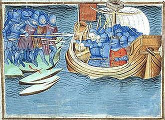 Battle of Cadzand - Battle of Cadzand (Jean Froissart, 14th century)