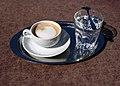 Café Hofburg Wien 2008 Melange 1.jpg