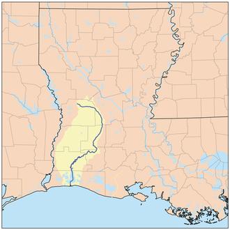 Beauregard Parish, Louisiana - Image: Calcasieurivermap