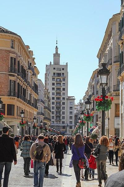 File:Calle Marques de Larios, Málaga.jpg