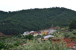 View of Cambroncino, an alquería in Caminomorisco municpality