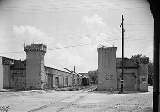 William Aiken House and Associated Railroad Structures - Camden Depot (1969 HABS photo)