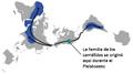 Camelid migration & evolution DymaxionMap 01-es.png