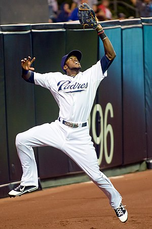 Cameron Maybin - Maybin playing for the San Diego Padres in 2011