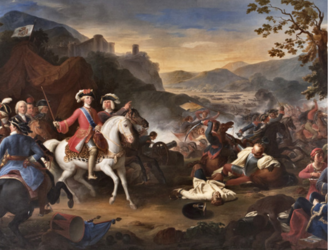 Battle of Velletri (1744) - Charles VII of Naples at the Battle of Velletri by Camillo Guerra. Oil on canvas (1850).