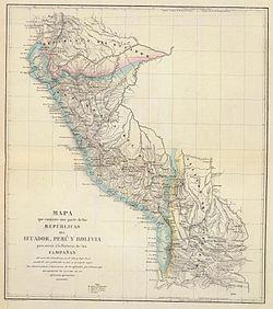 Campañas de independencia en Ecuador, Perú y Bolivia 1823-26.JPG