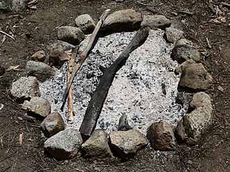 Shades of gray - Wood ash from a campfire