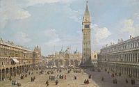 Canal, Giovanni Antonio - Venice, Piazza San Marco looking east towards basilica - Sotheby's, London 3 December 2014, lot 11.jpg