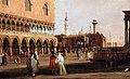 Canaletto, veduta della piazzetta di san marco verso sud, 1735 ca. 02.jpg