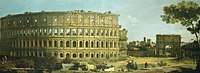 Canaletto (Venice 1697-Venice 1768) - Rome, View of the Colosseum and the Arch of Constantine - RCIN 404432 - Royal Collection.jpg
