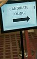 Candidate Filing sign, Minneapolis City Hall 2013.jpg