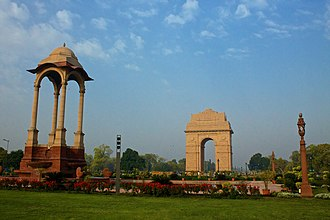 National War Memorial (India) - The proposed site of the war memorial, Canopy near India Gate, Delhi