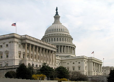 The Senate side of the United States Capitol in Washington, D.C. Capitol-Senate.JPG