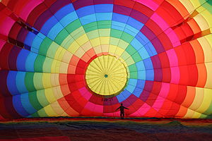Cappadocia Balloon Inflating Wikimedia Commons.JPG