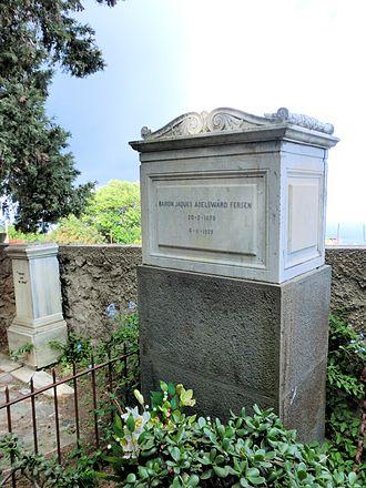 Cimitero acattolico di Capri - Tombstone of Jacques d'Adelsward-Fersen