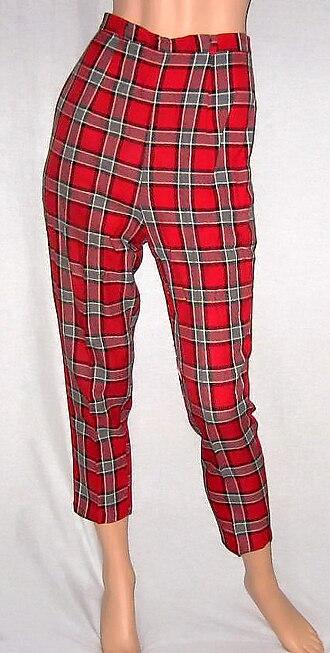 Capri pants - Plaid Capri pants