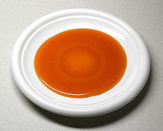 Caramel - A saucer of liquid caramel